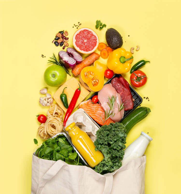 Mahlzeiten und Einkauf für Detox Kir