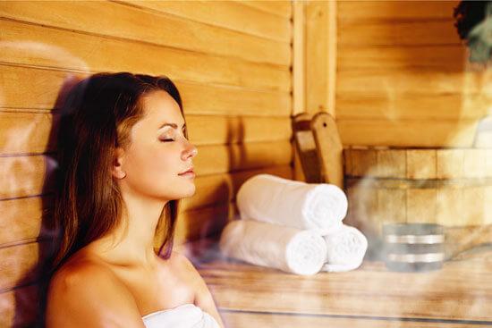 Sauna zur Ausleitung über die Haut und zur Entspannung